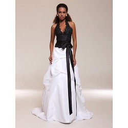 Prom / Formal Evening / Quinceanera / Sweet 16 Dress - Multi-color Plus Sizes / Petite A-line / Princess / Ball Gown Halter / V-neck