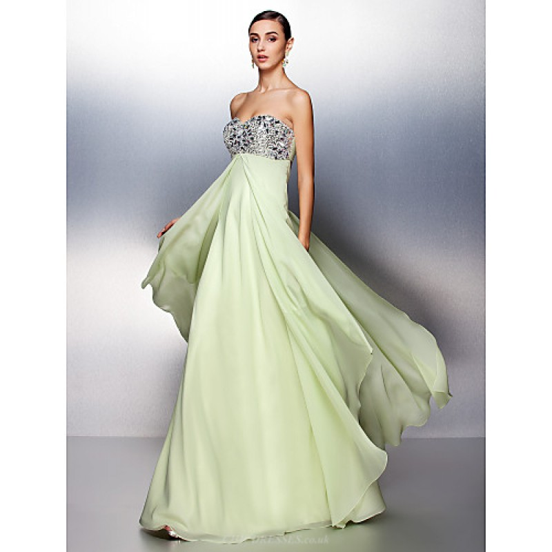af1e3fb0a06f Prom / Formal Evening Dress - Sage Plus Sizes / Petite A-line Sweetheart  Floor