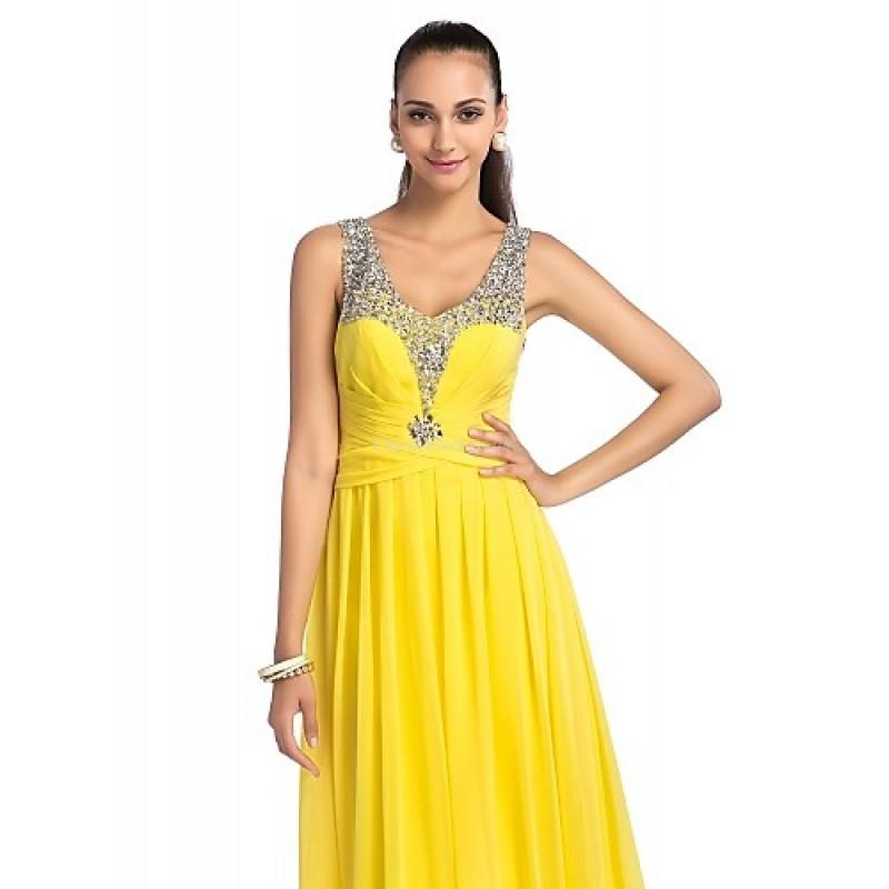 Prom Military Ball Formal Evening Dress Daffodil