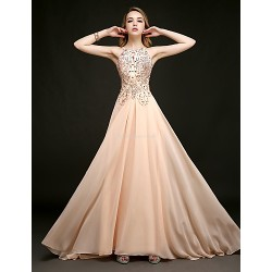 Formal Evening Dress Pearl Pink Plus Sizes Petite Sheath Column Halter Floor Length Chapel Train