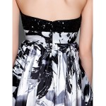 TS Couture Cocktail Party / Holiday / Prom Dress - Print Plus Sizes / Petite Sheath/Column Sweetheart Short/Mini Stretch Satin Special Occasion Dresses