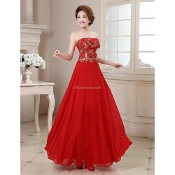 Formal Evening Dress Ruby Plus Sizes A Line Strapless Floor Length Satin