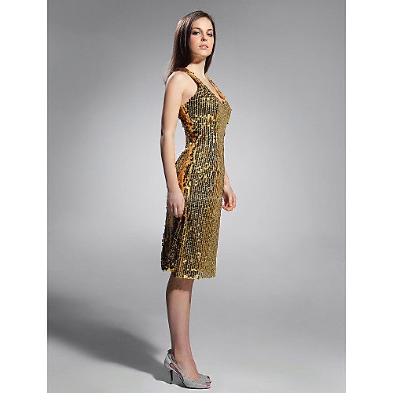 Cocktail Party Holiday Dress Gold Plus Sizes Petite