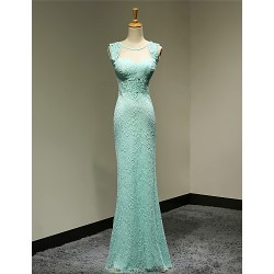 Formal Evening Dress - Pool Plus Sizes / Petite Sheath/Column Sweetheart Floor-length Lace