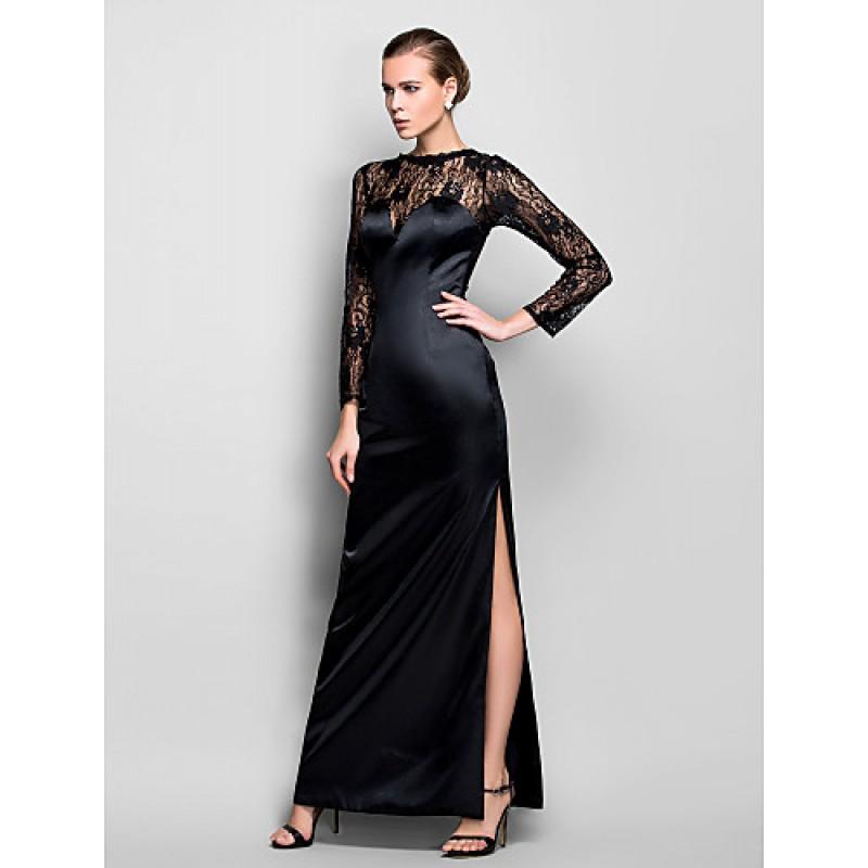 Chic Dresses Formal Evening / Military Ball Dress - Black Plus Sizes ...