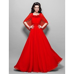 Formal Evening / Prom / Military Ball Dress - Ruby Plus Sizes / Petite A-line Square Ankle-length Chiffon