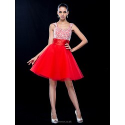 Cocktail Party Prom Holiday Dress Ruby Plus Sizes Petite A Line Scoop Short Mini Tulle