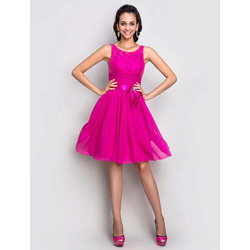 Chic Dresses Cocktail Party / Holiday / Dress - Fuchsia Plus Sizes ...