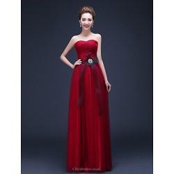 Formal Evening Dress Ruby Plus Sizes Sheath Column Sweetheart Floor Length Chiffon