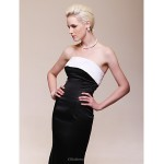 TS Couture Formal Evening Dress - Black Plus Sizes / Petite Trumpet/Mermaid Strapless Floor-length Satin Special Occasion Dresses