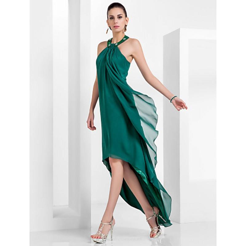 Chic Dresses Formal Evening Dress Dark Green Plus Sizes
