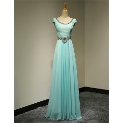 Formal Evening Dress Pool Plus Sizes Petite A Line Scoop Floor Length Chiffon