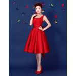 Cocktail Party Dress - Ruby Plus Sizes A-line Straps Short/Mini Satin Special Occasion Dresses