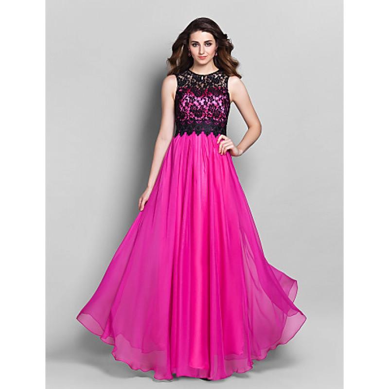 33417f8aebb ... Jewel Floor-length Chiffon   Lace · Formal Evening   Prom   Military  Ball Dress - Multi-color Plus Sizes   Petite