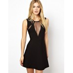 Cocktail Party Dress - Black Petite Sheath/Column Jewel Short/Mini Rayon Special Occasion Dresses