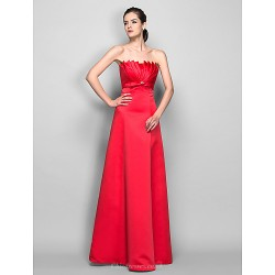 Formal Evening / Prom / Military Ball Dress - Ruby Plus Sizes / Petite A-line Scalloped Floor-length Satin