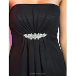 TS Couture Cocktail Party / Holiday Dress - Black Plus Sizes / Petite A-line / Princess Strapless Short/Mini Chiffon Special Occasion Dresses