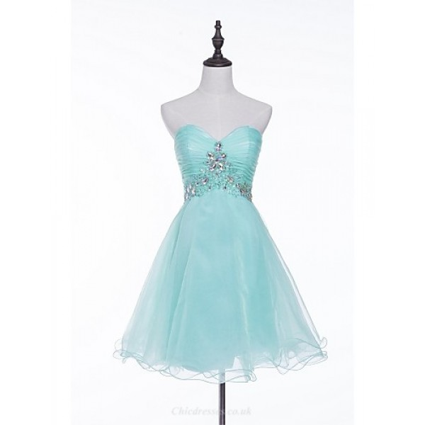Cocktail Party Dress - Pool A-line Sweetheart Short/Mini Tulle Special Occasion Dresses
