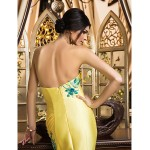 TS Couture Formal Evening Dress - Daffodil Plus Sizes / Petite Trumpet/Mermaid Strapless Sweep/Brush Train Satin Special Occasion Dresses