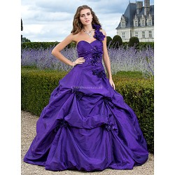 Prom / Formal Evening / Quinceanera / Sweet 16 Dress - Regency Plus Sizes / Petite Ball Gown / A-line / Princess One Shoulder / Sweetheart