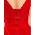 TS Couture Cocktail Party / Holiday Dress - Ruby Petite Sheath/Column V-neck Short/Mini Rayon Special Occasion Dresses