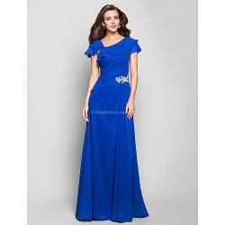 Formal Evening Military Ball Dress Ocean Blue Plus Sizes Petite A Line Square Floor Length Chiffon