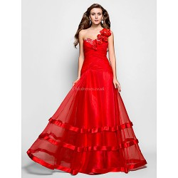 Formal Evening / Prom / Military Ball Dress - Ruby Plus Sizes / Petite A-line / Princess One Shoulder / Sweetheart Floor-length Organza