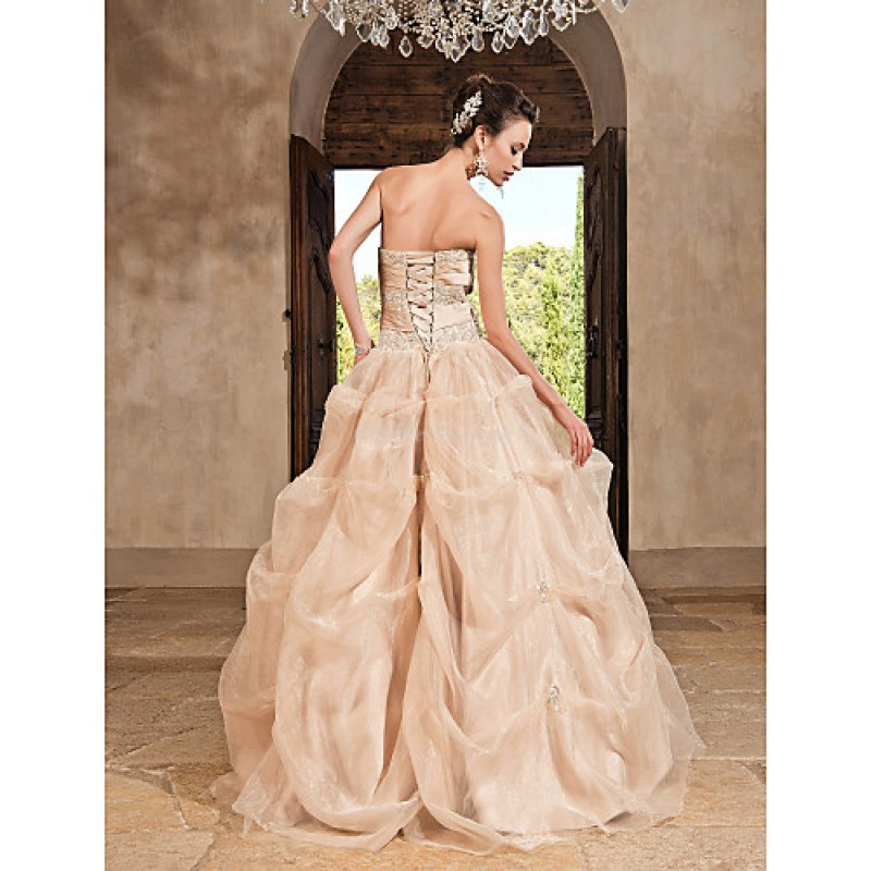 329ec1aa17b ... Prom   Formal Evening   Quinceanera   Sweet 16 Dress - Champagne Plus  Sizes   Petite ...