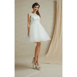 Knee Length Satin Lace Bridesmaid Dress Sage White Champagne Sky Blue Purple A Line Bateau