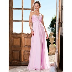 Prom Military Ball Formal Evening Dress Blushing Pink Plus Sizes Petite Sheath Column Strapless Sweetheart Floor Length Chiffon
