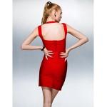 Dress - Ruby Petite Sheath/Column V-neck Short/Mini Silk Special Occasion Dresses