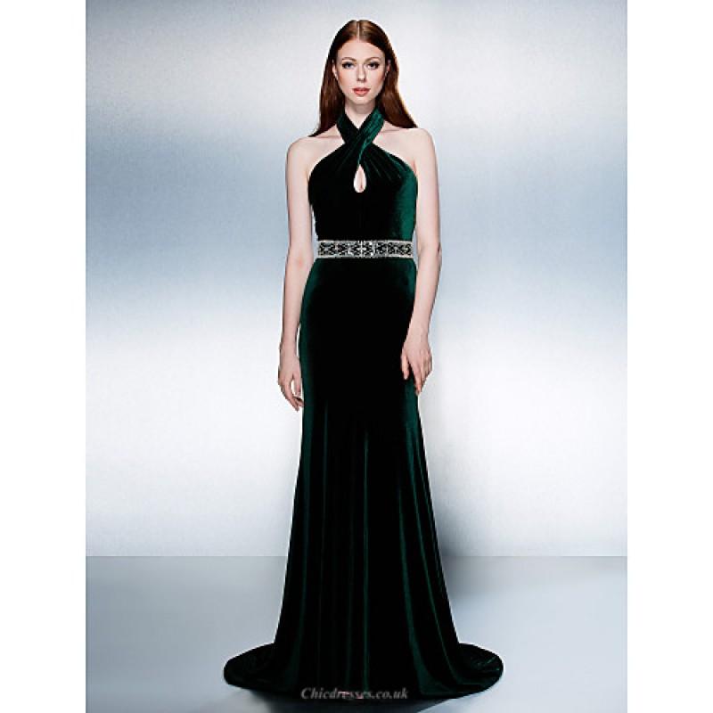 00a56ab34681 ... TS Couture Formal Evening Dress - Dark Green Plus Sizes   Petite  Trumpet Mermaid Halter ...