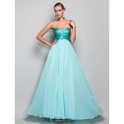 Formal Evening Prom Military Ball Dress Jade Plus Sizes Petite A Line Princess Strapless Sweetheart Floor LengthChiffon