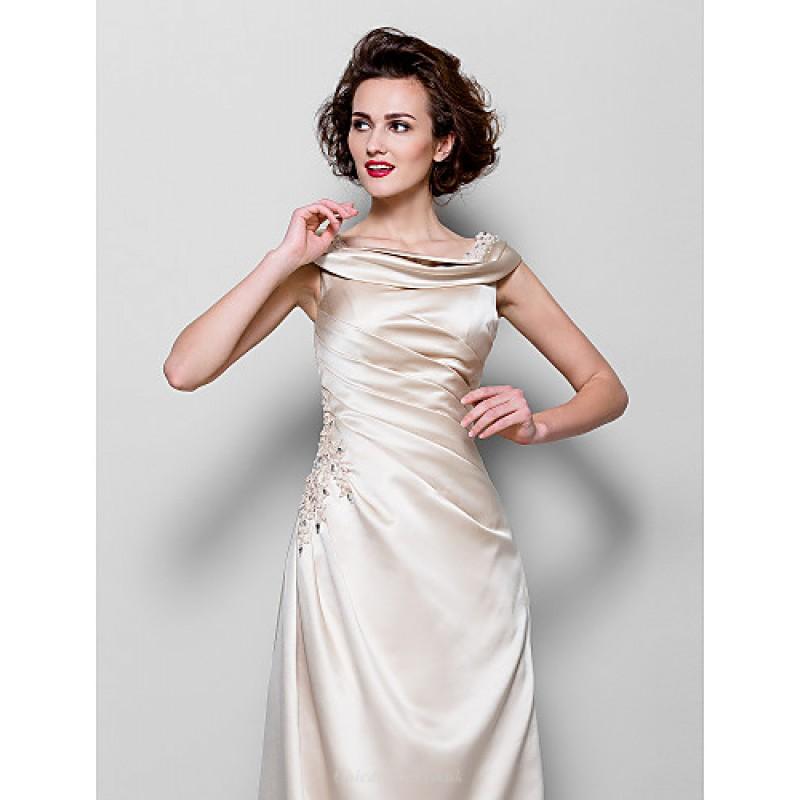 2f9da058a3977 ... A-line Plus Sizes   Petite Mother of the Bride Dress - Champagne Floor-  ...