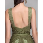 TS Couture Formal Evening / Military Ball Dress - Clover Plus Sizes / Petite A-line / Princess V-neck Floor-length Chiffon / Lace Special Occasion Dresses