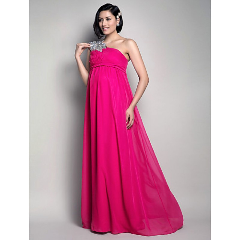 Formal Evening / Wedding Party Dress - Fuchsia Maternity Sheath ...