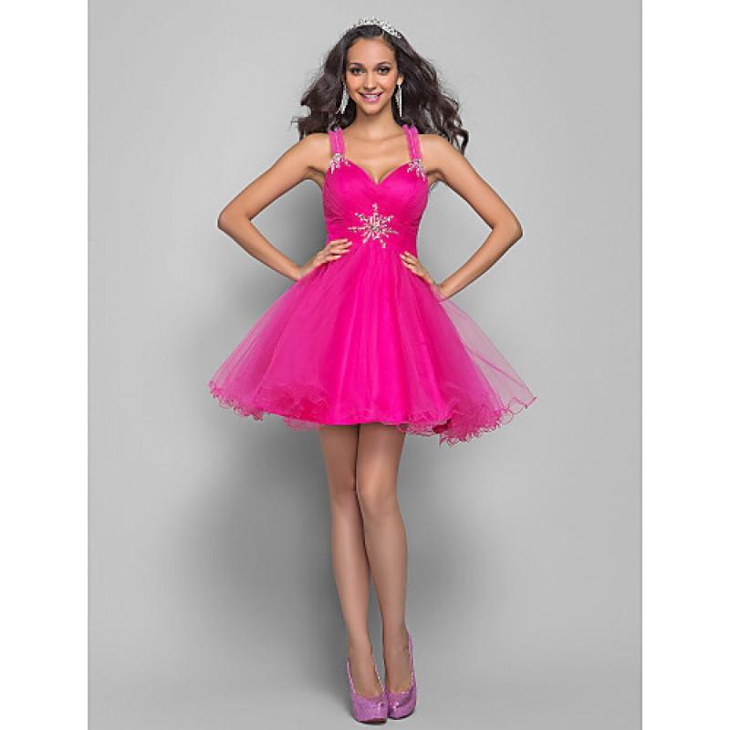 6f28e551e17 TS Couture Prom   Cocktail Party Dress - Fuchsia Plus Sizes   Petite A-line