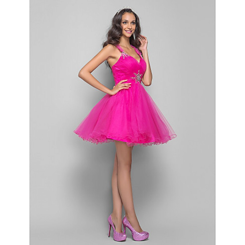 49ab413238a ... TS Couture Prom   Cocktail Party Dress - Fuchsia Plus Sizes   Petite A- line ...