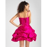 Cocktail Party / Homecoming / Prom / Sweet 16 Dress - Fuchsia Plus Sizes / Petite Princess / Ball Gown / A-lineSweetheart / Spaghetti Special Occasion Dresses