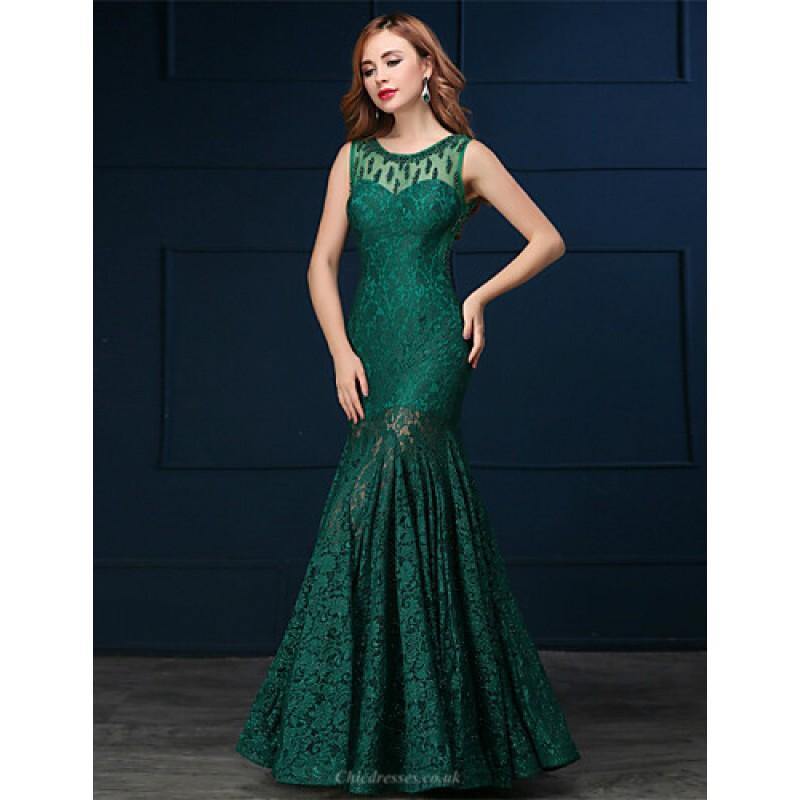 Formal Evening Dress - Clover Trumpet/Mermaid Scoop Floor-length ...