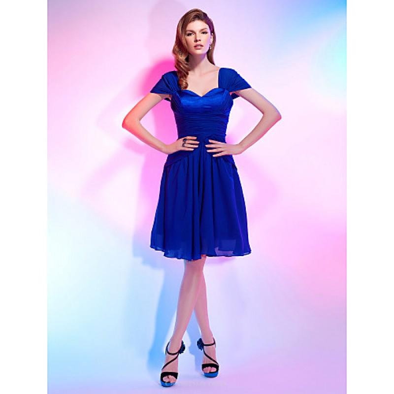 Chic Dresses Cocktail Party Dress Royal Blue Plus Sizes