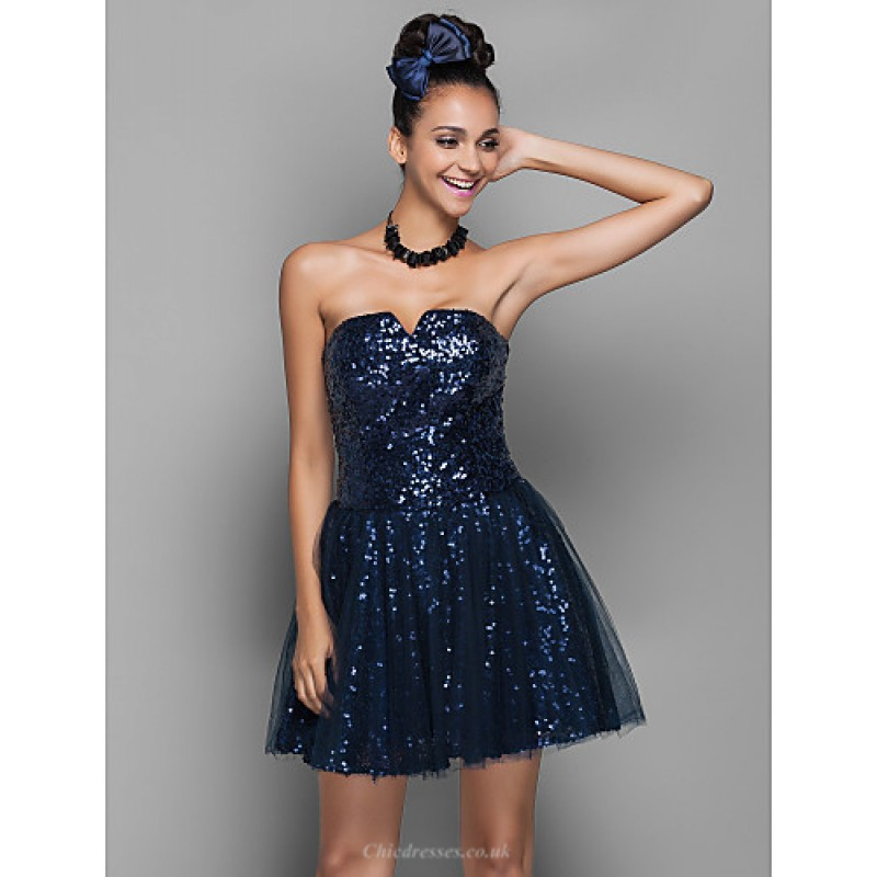 Cocktail Party Homecoming Prom Holiday Dress Dark