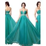 Formal Evening Dress - Dark Navy / Jade / Watermelon Plus Sizes / Petite A-line Sweetheart Floor-length Chiffon Special Occasion Dresses