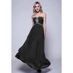 Formal Evening Dress Royal Blue Black Ruby Burgundy Fuchsia Grape Dark Green Pool Plus Sizes Sheath Column Floor Length