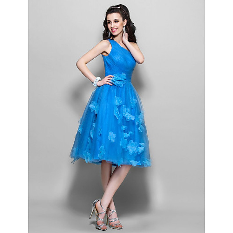 Chic Dresses Cocktail Party Prom Dress Ocean Blue