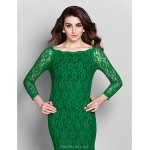 Cocktail Party / Prom / Holiday Dress - Clover Plus Sizes / Petite Sheath/Column Off-the-shoulder Short/Mini Lace Special Occasion Dresses