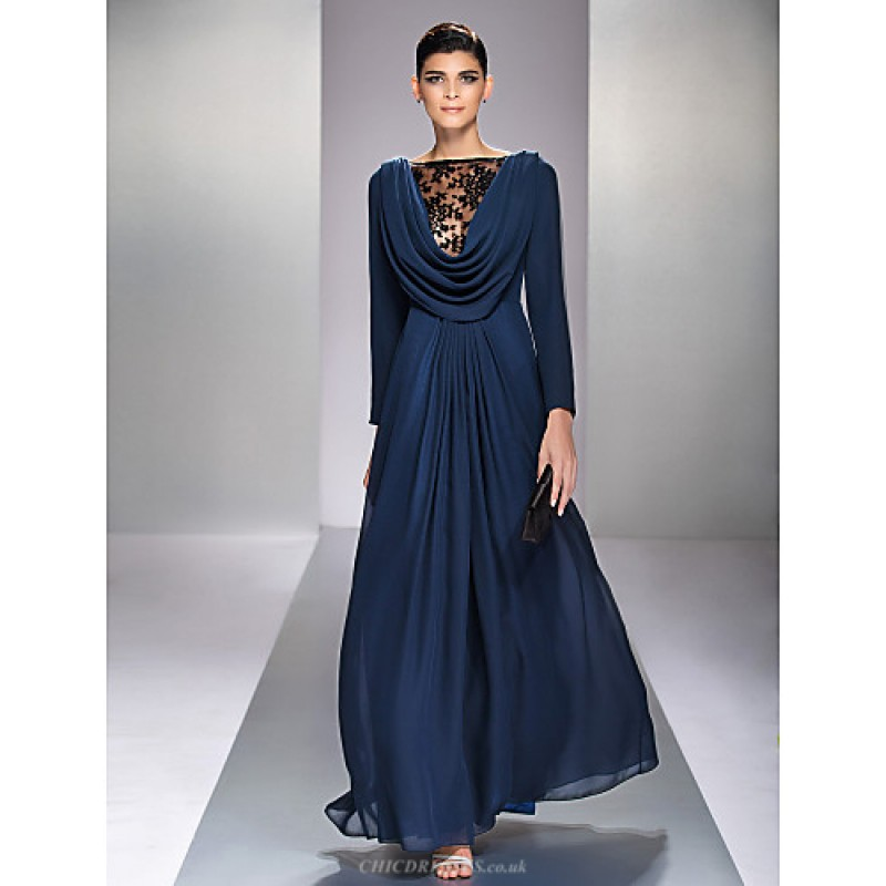 Chic Dresses Formal Evening / Military Ball Dress - Dark Navy Plus ...
