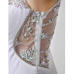 Formal Evening Dress - White Plus Sizes / Petite Sheath/Column Jewel Floor-length Special Occasion Dresses
