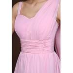 Short/Mini Bridesmaid Dress - Blushing Pink Sheath/Column Spaghetti Straps Special Occasion Dresses