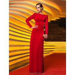 Military Ball / Formal Evening Dress - Ruby Plus Sizes / Petite Sheath/Column Jewel Floor-length Jersey